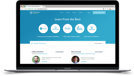 DataCamp Instructors Page