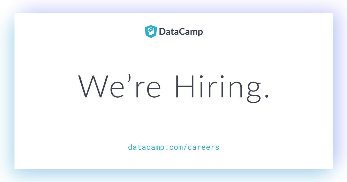 Open job positions | DataCamp